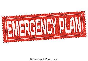 Señal de plan de emergencia o sello