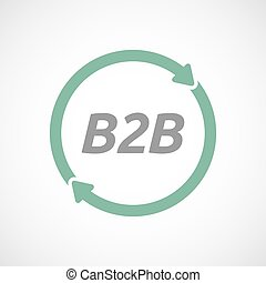 Señal de reusa aislada con el texto B2B