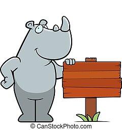 Señal de rinoceronte