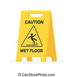Señal de suelo mojado