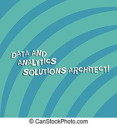 Señal de texto que muestra datos y soluciones analíticas arquitecto. Foto conceptual: Análisis de tecnología moderna. Cuarenta y cinco círculos en blanco.