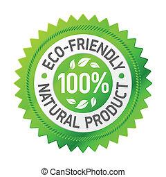 Señal de un producto ecológico
