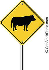 Señal de vaca