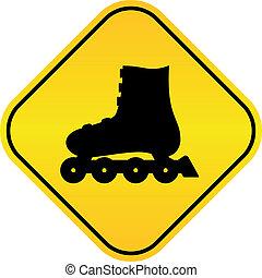 Señal de vector de patines