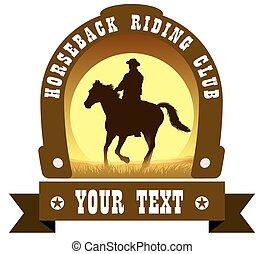 Señal del club de equitación