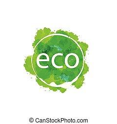 Señal ecológica abstracta. Ilustración vectorial del icono