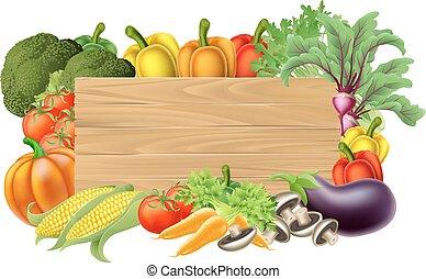 Señal fresca de vegetales