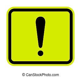 señal, ilustración, aislar, vector, advertencia, plano de fondo, blanco