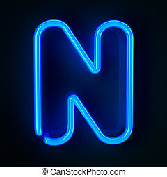 señal, neón, carta n