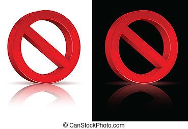 señal, prohibido