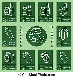 señal, reciclaje