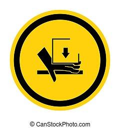 señal, símbolo, aglomeración, ilustración, sobre, aislar, vector, mano, plano de fondo, fuerza, blanco