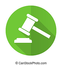 señal, símbolo, tribunal, icono, veredicto, verde, plano, subasta