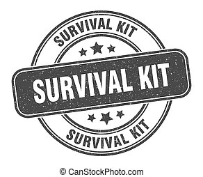 señal, supervivencia, grunge, kit, label., redondo, stamp.