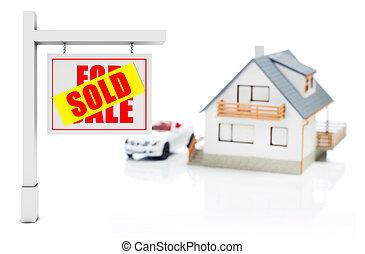 Señal vendida delante de casa