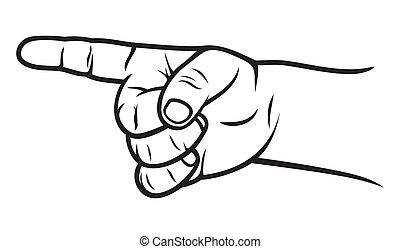 Señalador de dedos de niño