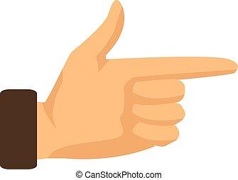 Señalando con el dedo índice un fondo blanco. Ilustración de vectores
