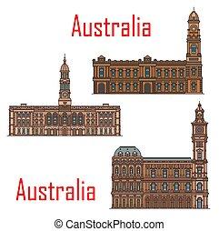 señales, arquitectura, australia, edificios