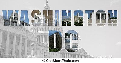 señales, cc, collage, washington, monumentos