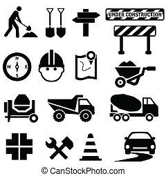 Señales de construcción de carretera