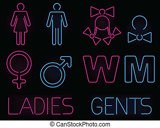 Señales de género neón