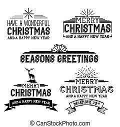 Señales de Navidad Vector