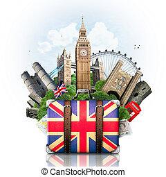señales, inglaterra, viaje, británico