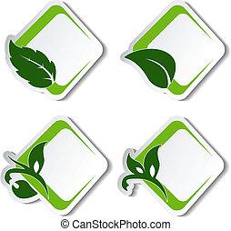 Señales naturales de vector con hojas