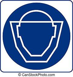 Señales obligatorias: máscara protectora debe usarse en esta zona