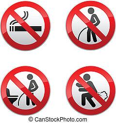 Señales prohibidos