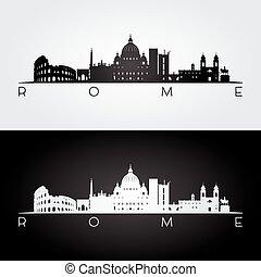 señales, roma, silueta, contorno