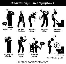 señales, síntomas, diabetes
