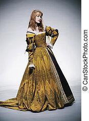 Señora del tiempo medieval