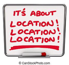 Se trata de destino de ubicación mejor lugar de área