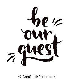 Sea nuestro invitado de diseño de caligrafía