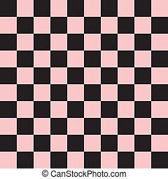 seamless, a cuadros, rosa, patrón, tabla, textura, ajedrez, vector