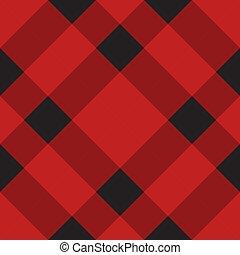 seamless, a cuadros, tartán, patrón, tartán, escocés, vector