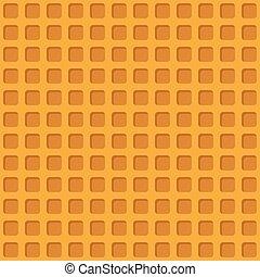 seamless, barquillo, vector, amarillo, ilustración, patrón