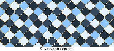 seamless, dorado, tradicional, marroquí, grid., mosaico, mezquita, design., eid, ramadan