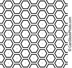 seamless, hexágonos, pattern., geométrico, panal