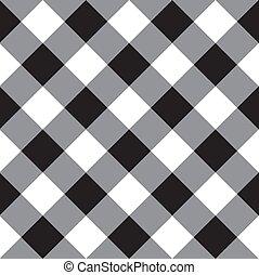 seamless, vector, cruzado, tartán, patrón, negro, a cuadros