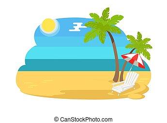 Seaview Seacape con Chaise Longue de playa tropical