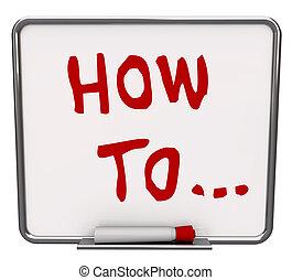 seco, cómo, borrar, tabla, palabras, instrucciones