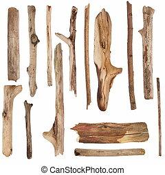 seco, de madera, viejo, ramas, signpos