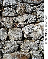 seco, pared, piedra