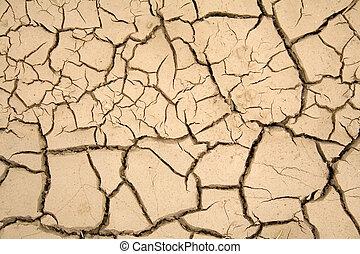 seco, tierra, global, -, warming