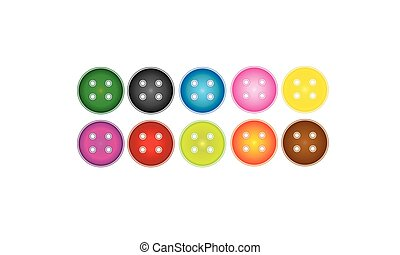 Secuencia de color cosiendo botones