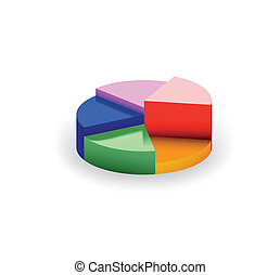 segments., vector, diagramme
