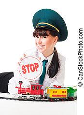 Segurísimo despachador de ferrocarriles