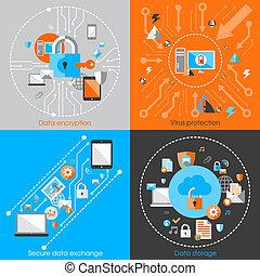 seguridad, concepto, protección de los datos